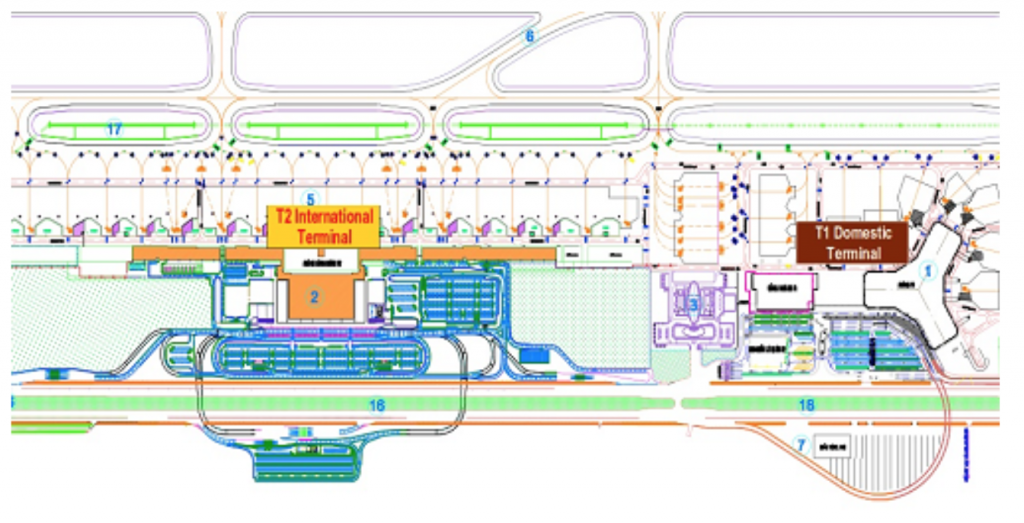 noi bai airport map