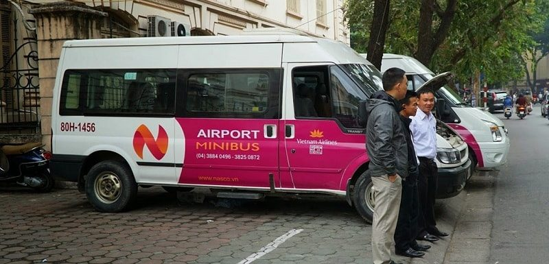 vietnam airlines shutle bus hanoi